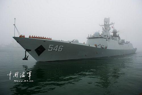 中国隐形战舰护航叙化武 积极参与国际合作