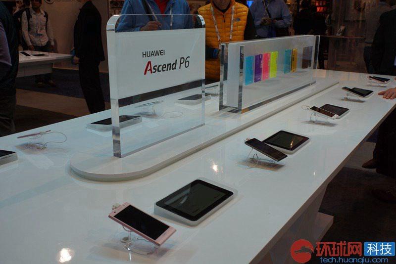 多彩的华为p6智能手机.高清图片