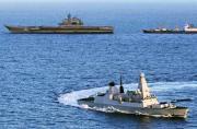 俄航母舰队逼近英海岸意欲何为