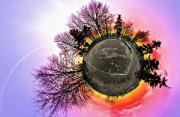 风光摄影:日落小行星