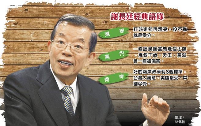 谢长廷谈民进党新版两岸政策:真的是恨铁不成钢