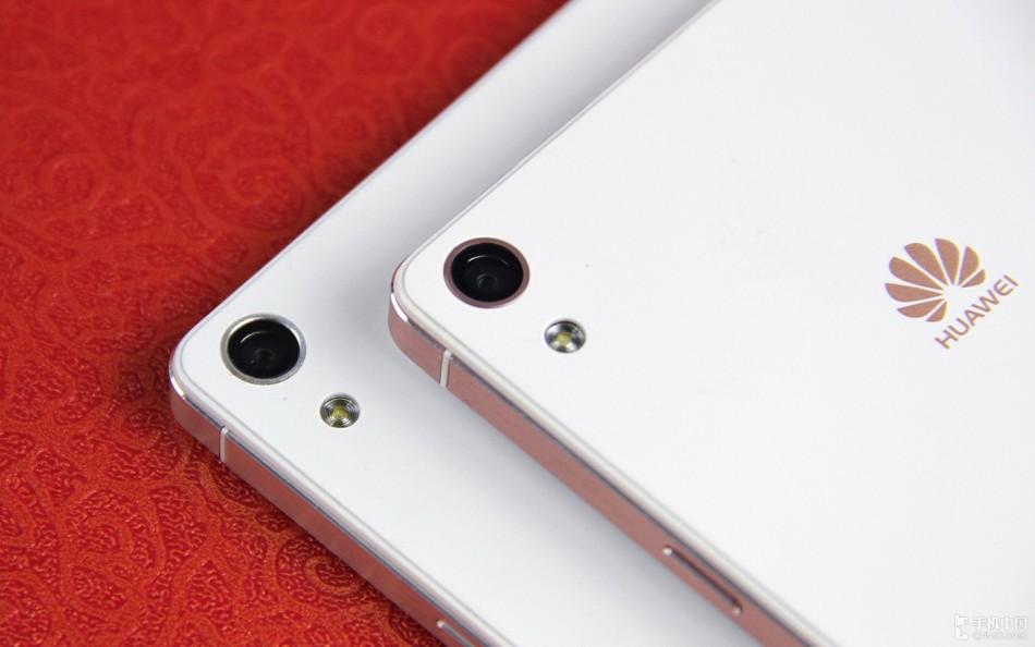 超薄机身金属边框 玫瑰金版华为p6图赏