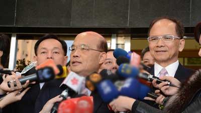 苏贞昌:如用尽力气封锁台湾只会造成中国内耗