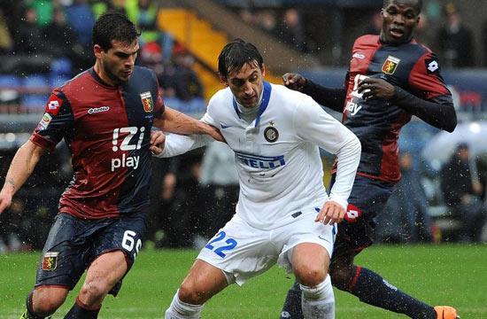 国米雨中大战1球负热那亚 延续新年不胜纪录