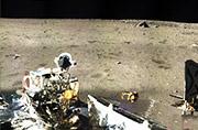 嫦娥3号360度全景拍摄月面照片
