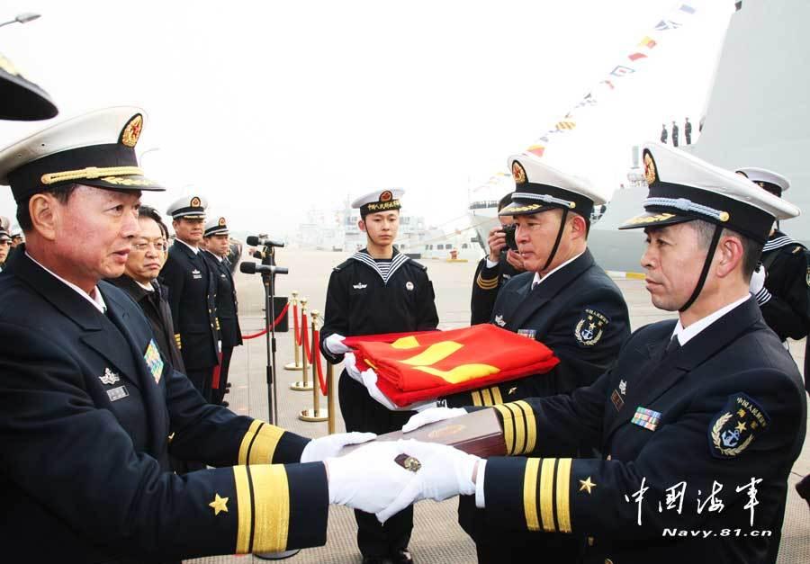 052C郑州舰刚服役就出海训练档视频爆图片