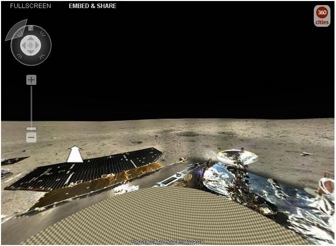玉兔号月球全景图_美摄影师用嫦娥三号传图片制作月球360全景图 _科技_环球网