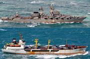 日本又发现有俄海军战舰逼近