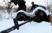 长白山一带潜伏中国武警狙击手