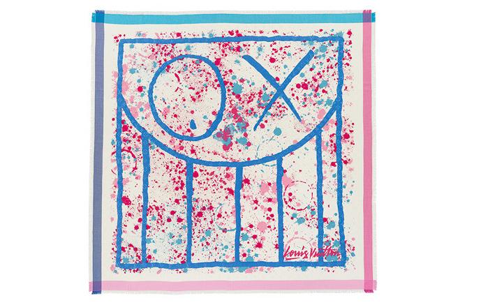 路易威登携手街头艺术家推出新款丝巾