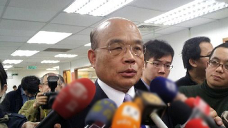 谢长廷表态挑战民进党主席 苏贞昌低调回应