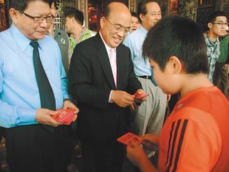 苏贞昌回应是否续选民进党主席 支持者默认其参选