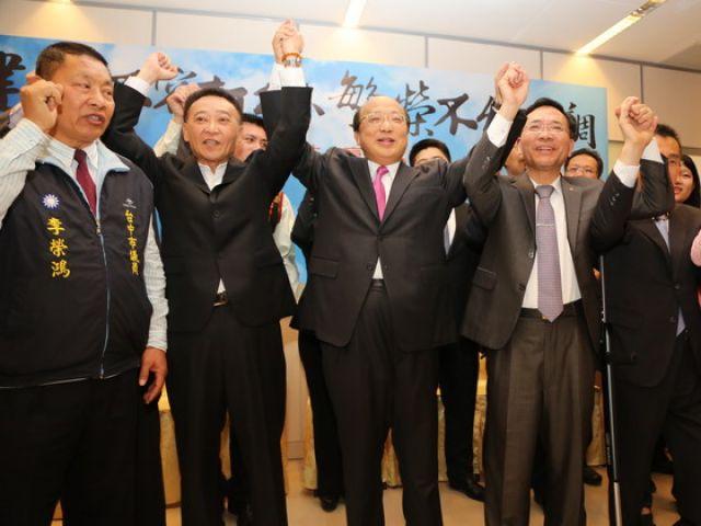 民调落后林佳龙 胡志强:我会赢给你看(图)