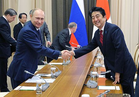 媒体:普京晤安倍答应访日 就领土会谈未达一致