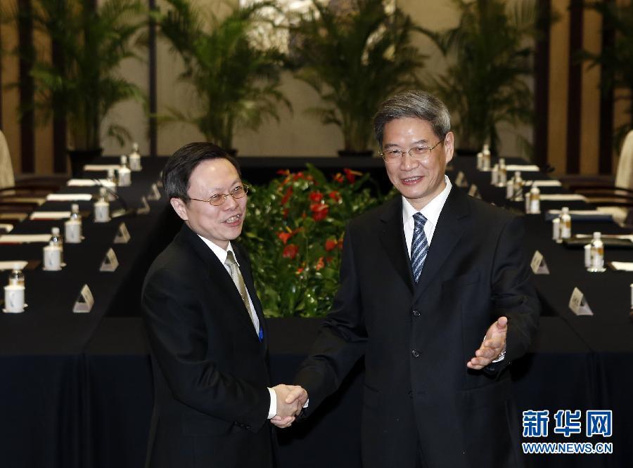 张志军与台陆委会负责人王郁琦会面并达成共识
