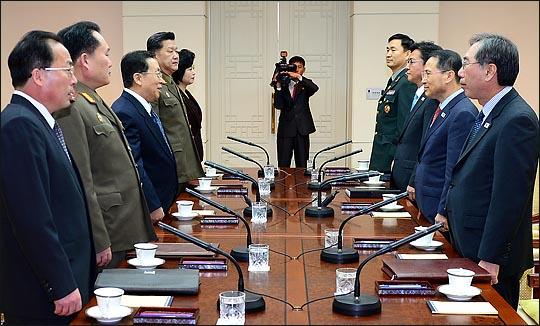 朝韩高层七年来首次举行会谈