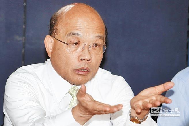 苏贞昌表态争党主席连任 民进党三国演义成定局