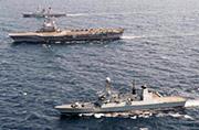 英军45型大驱给法军航母当护卫