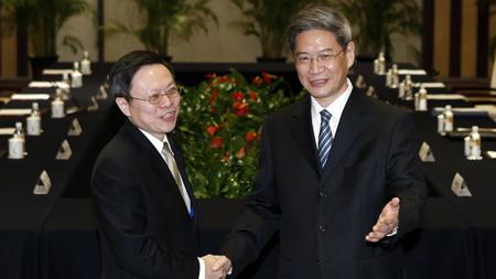 台陆委会回应国台办:不会刻意回避政治议题