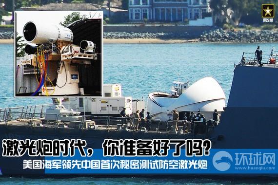 【美海军领先中国即将部署世界首款舰载激光炮】