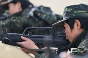 武警女子特战队首次出现在西藏