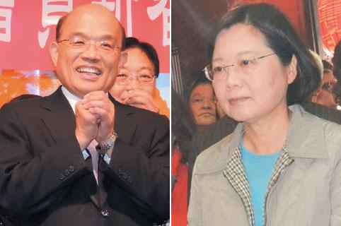 争民进党主席 蔡英文3月宣布参选迎战苏贞昌