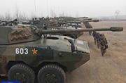 济南军区大批09轮式突击炮现身