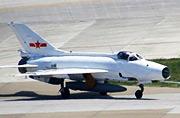 空军部队中稀有的纯白色歼-7