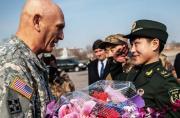 美陆军司令访华会见解放军高层