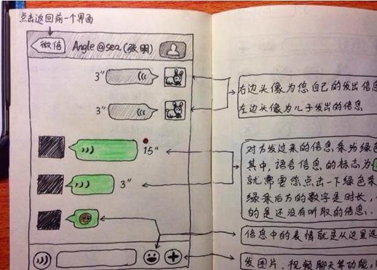 引网友热议_26岁男子手绘9页说明书教爸妈使用微信引网友泪崩(图)_财经_环球网