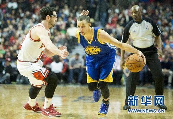 NBA 勇士不敌公牛