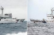 台海巡船与日舰在春晓油田对峙