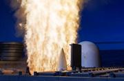 美军宙斯盾舰垂射导弹暴力瞬间