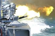 军方曝光多种舰载武器开火猛图