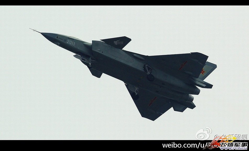 编号2011歼-20四代机成功首飞