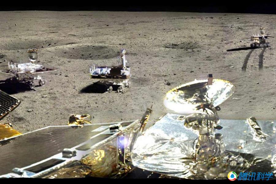 玉兔号月球全景图_组图:嫦娥三号拍摄的360度月球表面全景照_科技_环球网