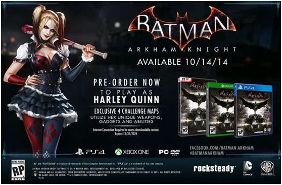 《蝙蝠侠:阿甘骑士》海报曝光 或于10月14日发布