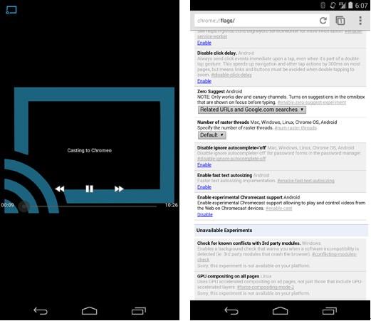 安卓版Chrome Beta可串流在线视频至Chromecast