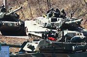 大量韩国坦克正在朝韩边境集结