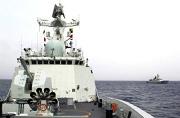 我军两艘054A舰在地中海会师
