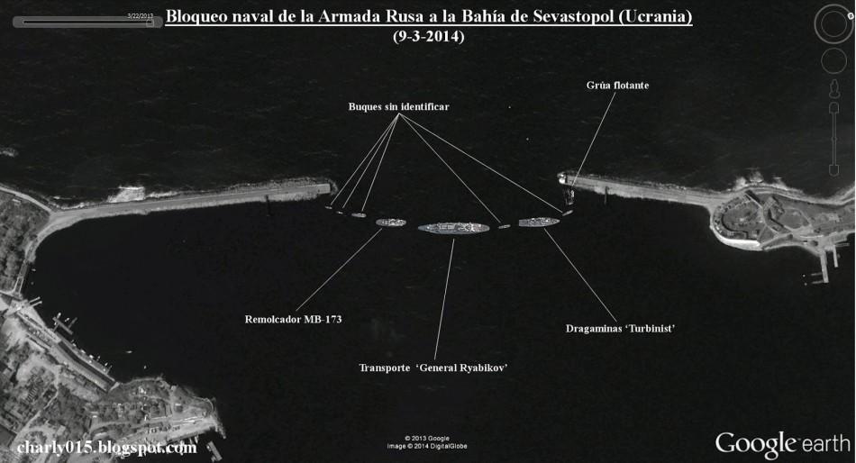 俄军舰一字排开堵死乌克兰港口