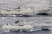日本在钓鱼岛附近发现中国军舰