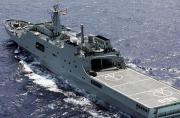 我军第2艘坞登舰抵达失联海区