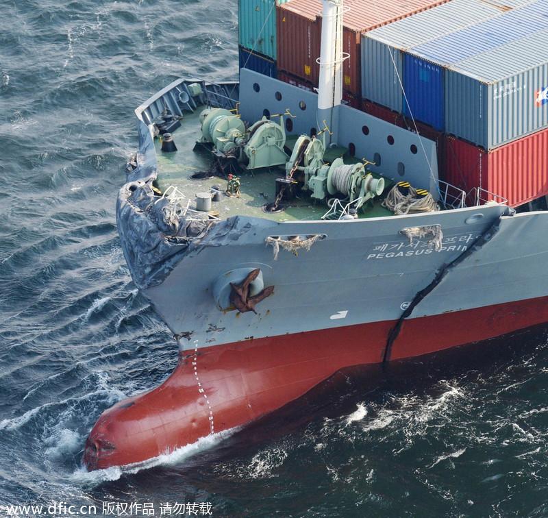 1名中国船员在日本近海撞船事故中死亡 8人失踪