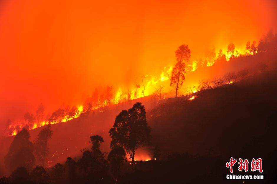 四川凉山数起森林火灾并发