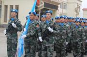 我军第12批南苏丹维和队伍出征
