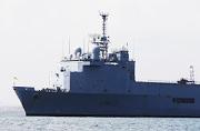 解放军登上了法国海军坞登舰