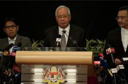马总理宣布马航失联航班坠毁于南印度洋