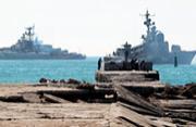 乌克兰扫雷舰遭俄军战舰围堵