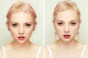 时尚摄影师制作人脸部对称图